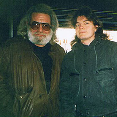 Bob with Jerry Garcia of the Grateful Dead