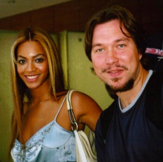 Roland with Pop superstar Beyonce